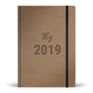 Agenda My 2019 couleur noisette