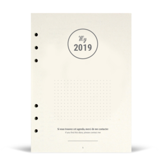 Agenda My 2019 version recharge pour classeur (compatible Filofax / Kikki.k)