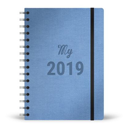 Agenda My 2019 spirale couleur ciel