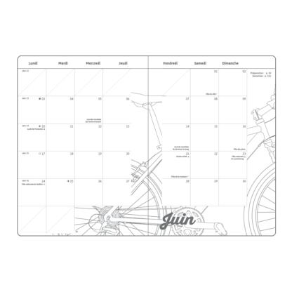 Agenda My 2019 spirale - le calendrier du mois