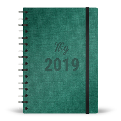 Agenda My 2019 spirale couleur forêt
