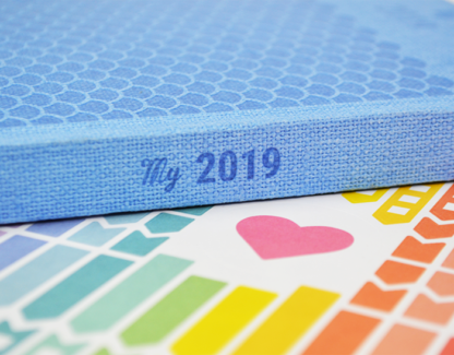 Agenda My 2019 - Dos et stickers