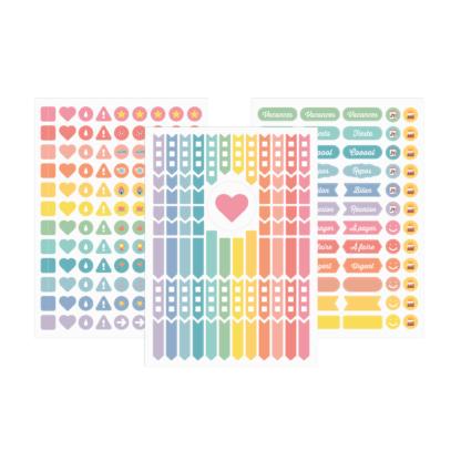 Les 3 planches de stickers My 2019